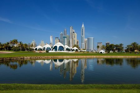 Overview of golf course named Majlis at Emirates Golf Club
