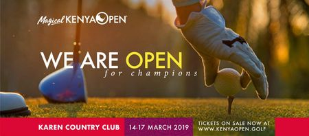 Cover of golf event named Kenya Open