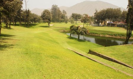 Overview of golf course named Granja Azul Golf and Country Club