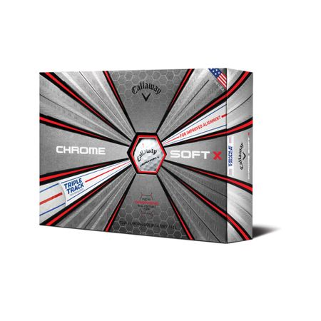 Golf Ball Chrome Soft X Triple Track made by Callaway Golf