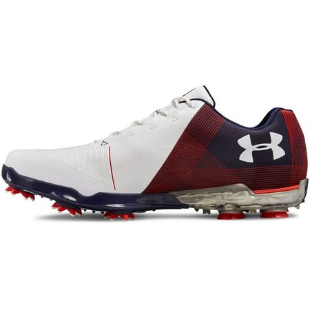 Golf undefined Under Armour Spieth 2 USA Men's Golf Shoe - Red/Navy made by Under Armour