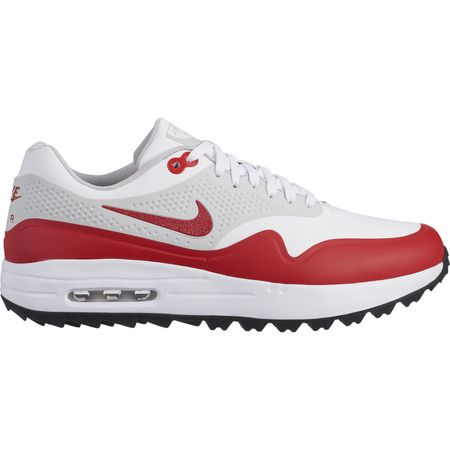 Shoes Air Max 1G Men's Golf Shoe - White/Red Nike Golf Picture