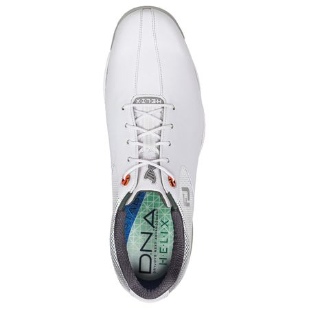 Golf undefined FootJoy D.N.A. Helix Men's Golf Shoe - White/Silver made by FootJoy