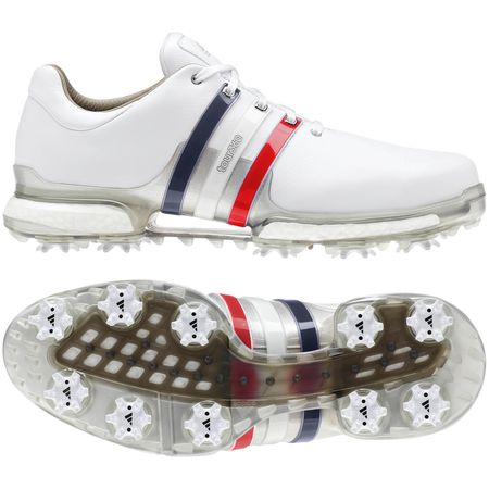 Golf undefined adidas TOUR 360 Boost 2.0 USA Men's Golf Shoes - Red/White/Blue made by Adidas Golf