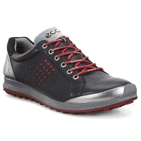 Shoes ECCO BIOM Hybrid 2 Mens Golf Shoe - Black/Red ECCO Picture