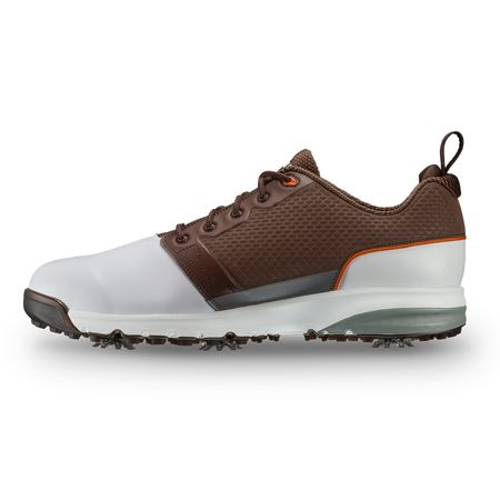 Golf undefined FootJoy Contour FIT Men's Golf Shoe - White/Brown (Previous Season Style) made by FootJoy