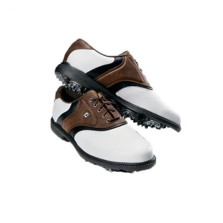 Golf undefined FootJoy Originals Men's Golf Shoe - White/Brown made by FootJoy