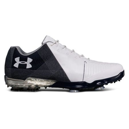 Golf undefined Under Armour Spieth 2 Men's Golf Shoe - White/Blue made by Under Armour