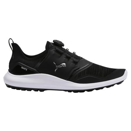 Golf undefined IGNITE NXT DISC Men's Golf Shoe - Black/Silver made by Puma Golf