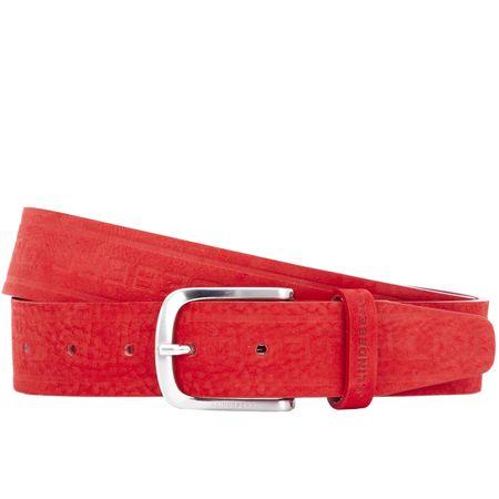 Belt Jaden Structured Leather Belt Red - AW18 J.Lindeberg Picture