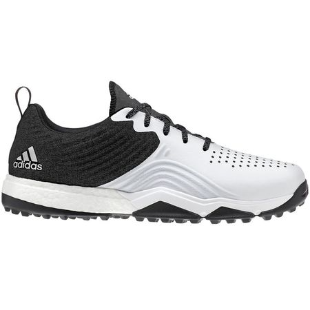 Golf undefined adidas adipower 4ORGED S Men's Golf Shoe - Black/White/Silver made by Adidas Golf