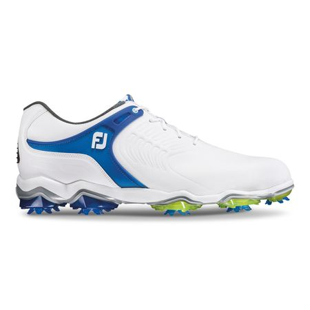Golf undefined FooJoy Tour-S Men's Golf Shoe - White/Blue made by FootJoy