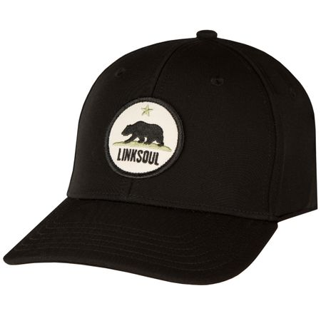 Golf undefined Waterproof California Patch Cap Black - AW18 made by Linksoul