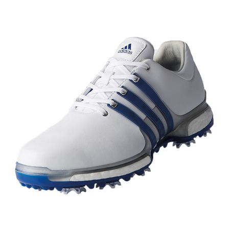 Shoes adidas TOUR 360 2.0 Men's Golf Shoe - White/Royal Adidas Golf Picture