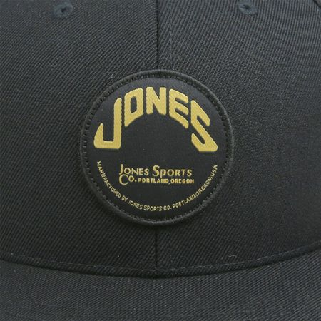 Golf undefined Wool Snapback with Circle Patch Black - 2018 made by Jones Golf Bags