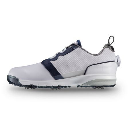 Golf undefined FootJoy Contour FIT BOA Men's Golf Shoe - White/Navy (Previous Season Style) made by FootJoy