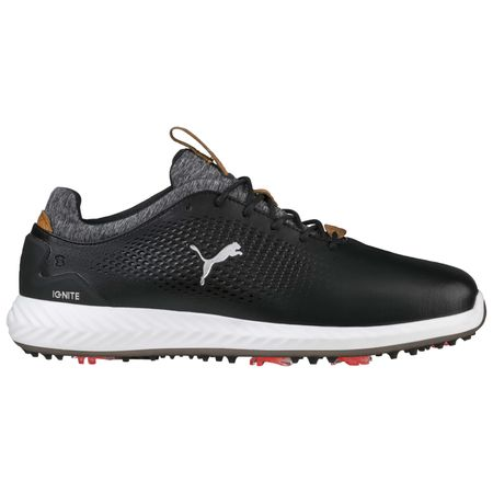 Shoes PUMA IGNITE PWRADAPT Leather Men's Golf Shoe - Black Puma Golf Picture
