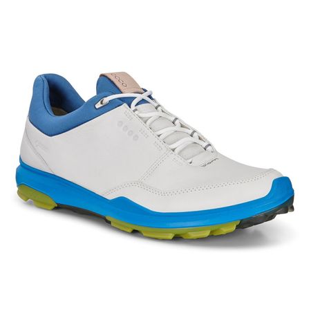 Shoes ECCO BIOM Hybrid 3 GTX Men's Golf Shoe - White/Blue ECCO Picture