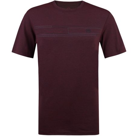 Golf undefined Travis Mathew RED The Revert Performance T-Shirt Heather Oxblood made by TravisMathew