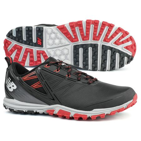 Golf undefined New Balance Minimus SL Men's Golf Shoe - Black/Red made by New Balance