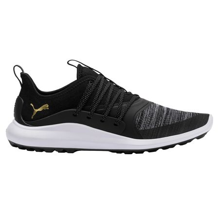 Golf undefined IGNITE NXT SOLELACE Men's Golf Shoe - Black/Gold made by Puma Golf