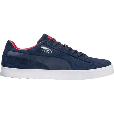 Shoes PUMA Suede G USA Men's Golf Shoe - Navy/White/Red Puma Golf Picture