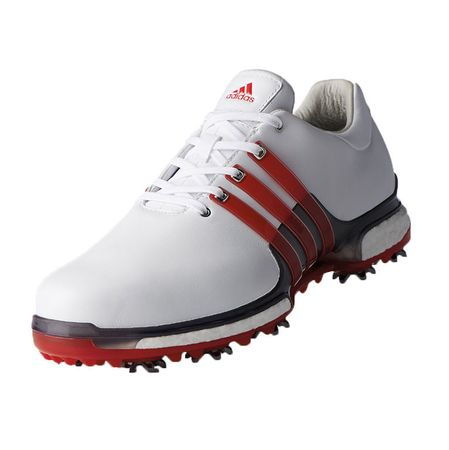 Golf undefined adidas TOUR 360 2.0 Men's Golf Shoe - White/Red made by Adidas Golf