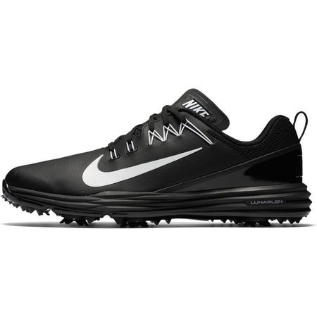 Golf undefined Nike Lunar Command 2 Men's Golf Shoe - Black/White made by Nike