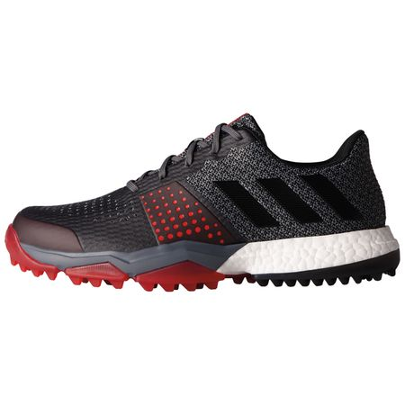 Golf undefined adidas Adipower Sport Boost 3 Men's Golf Shoe - Charcoal/Red made by Adidas Golf