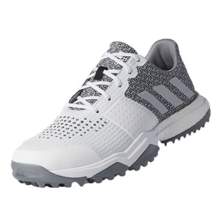 Golf undefined adidas Adipower Sport Boost 3 Men's Golf Shoe - White/Silver made by Adidas Golf