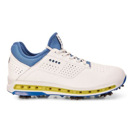 Shoes Golf Cool 18 GTX Men's Golf Shoe - White/Blue ECCO Picture