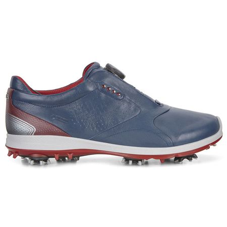 Shoes ECCO BIOM G2 BOA Men's Golf Shoe - Navy/Red ECCO Picture