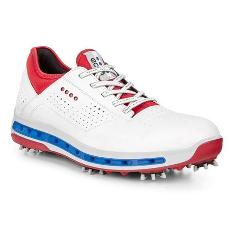 Golf undefined ECCO Cool 18 GTX Men's Golf Shoe - Red/White/Blue made by ECCO