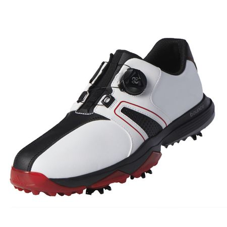 Shoes adidas 360 Traxion BOA Men's Golf Shoe - White/Black/Red Adidas Golf Picture