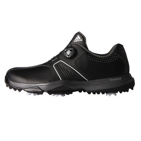 Shoes 360 Traxion BOA Men's Golf Shoe - Black/Silver Adidas Golf Picture