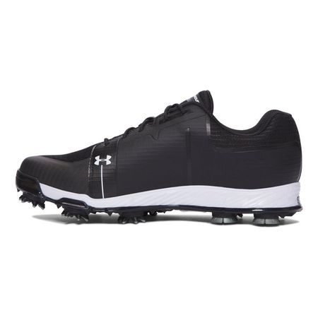 Golf undefined Under Armour Tempo Sport Men's Golf Shoe - Black/White made by Under Armour