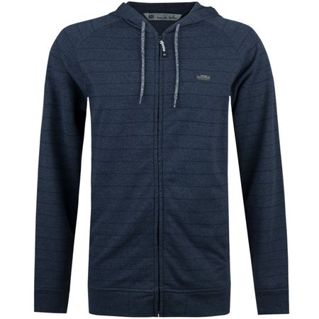 Golf undefined Adams Full Zip Hoodie Vintage Indigo - AW17 made by TravisMathew