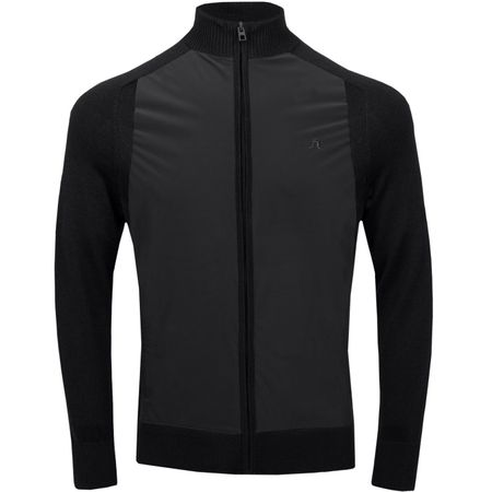Golf undefined Knitted Hybrid Jacket Lux Softshell Black - AW18 made by J.Lindeberg
