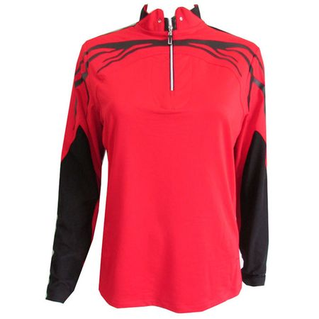 Golf undefined Jamie Sadock Long Sleeve Chest Flame Top made by Jamie Sadock