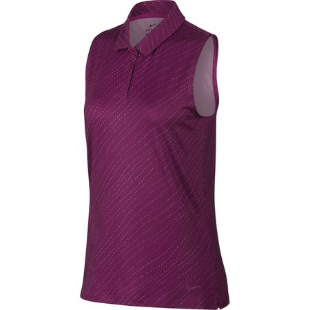 Golf undefined Sleeveless Diagonal Stripe Polo made by Nike