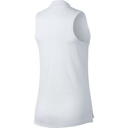Golf undefined Nike Dry Women's Sleeveless Texture Blade Collar Polo made by Nike Golf