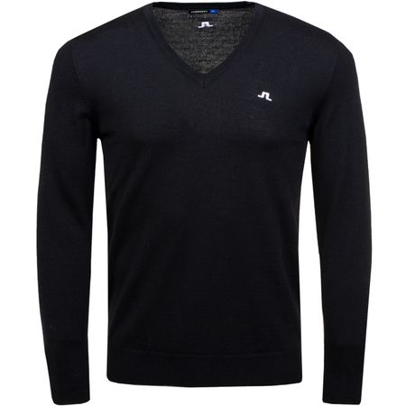 Golf undefined Newman V-Neck Tour Merino Black - 2019 made by J.Lindeberg