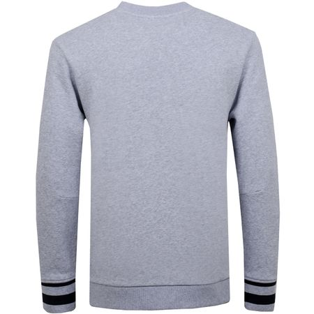 Golf undefined Tomas French Terry Crew Stone Grey Melange - 2019 made by J.Lindeberg