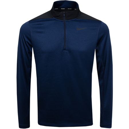 Golf undefined Core Half Zip Dry Top Obsidian/Blue Void - SS19 made by Nike