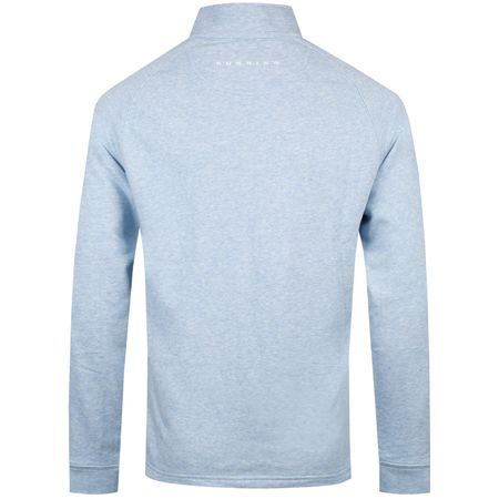 MidLayer Natural Hand Quarter Zip Light Blue Heather - SS19 Dunning Picture