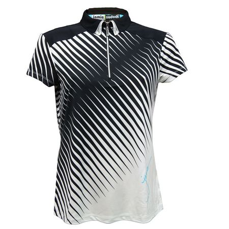 Golf undefined Cyan Group: Short Sleeve Broken Stripe Polo made by Jamie Sadock