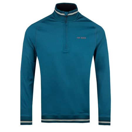 Golf undefined Comp Quarter Zip Teal Blue - AW18 made by Ted Baker