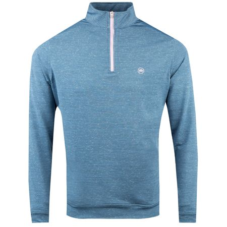 Golf undefined Perth Stretch Loop Terry Space Dye 1/4 Zip Plaza Blue - AW18 made by Peter Millar