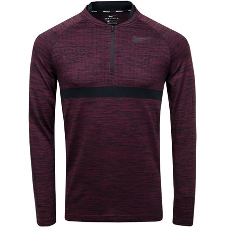 Golf undefined Dry Half Zip Mid Layer Burgundy Crush/Black - 2018 made by Nike Golf