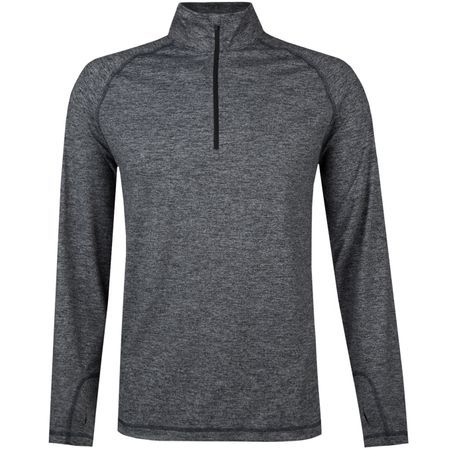 Golf undefined Performance Quarter Zip Heathered Black Heather - 2019 made by Dunning
